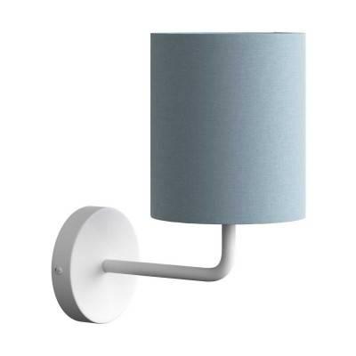 Fermaluce Metal, metalen wandlamp met lampenkap en gebogen arm