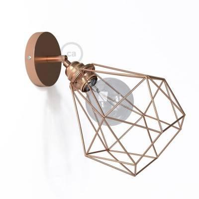 Fermaluce Metallo 90 ° Urban, applique murale réglable en métal avec abat-jour Diamond