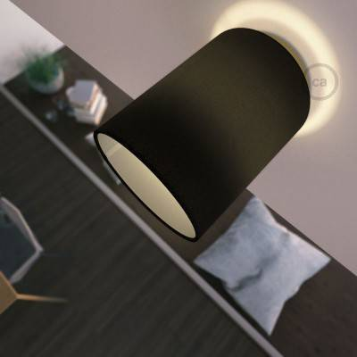 Fermaluce Metal avec Abat-Jour Cylindre, pour montage mural ou au plafond