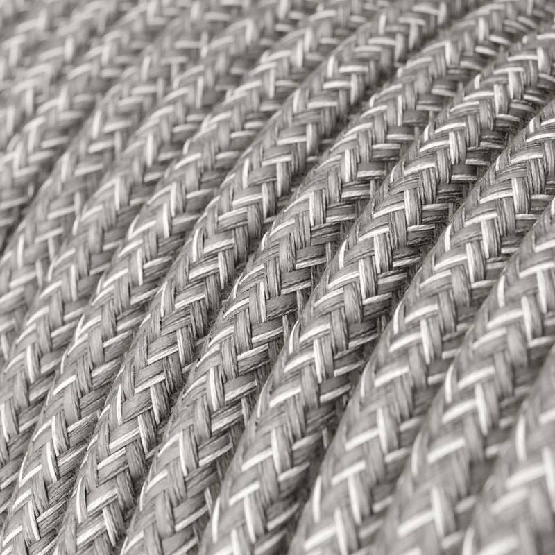 Spostaluce, en métal avec douille E27 filetée, câble textil et trous latéraux