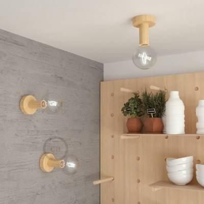 Fermaluce Wood M, houten wand- of plafondlamp