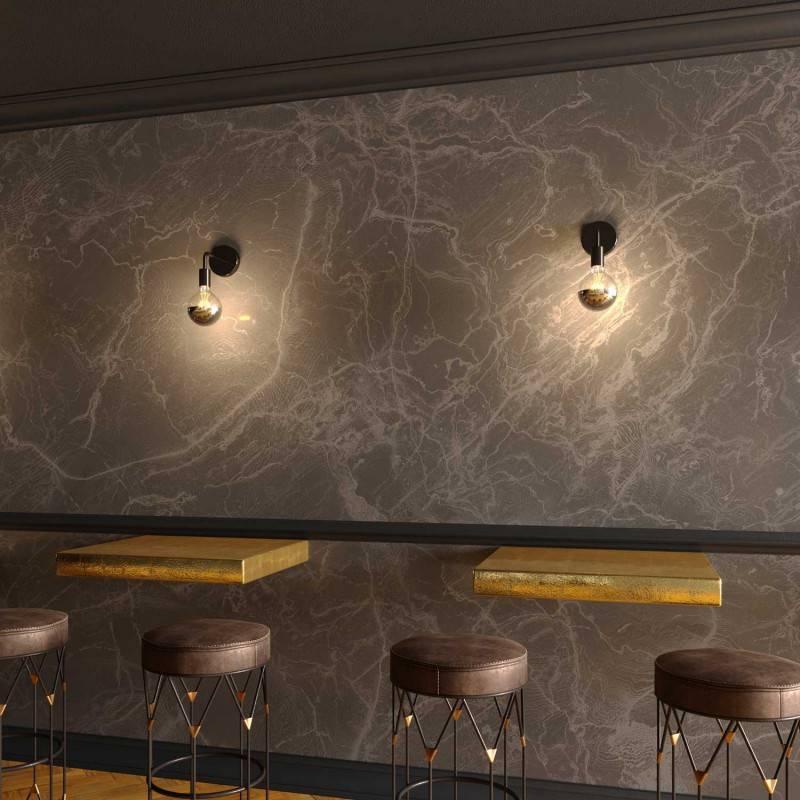 Fermaluce Metal, applique murale en métal avec extension courbe