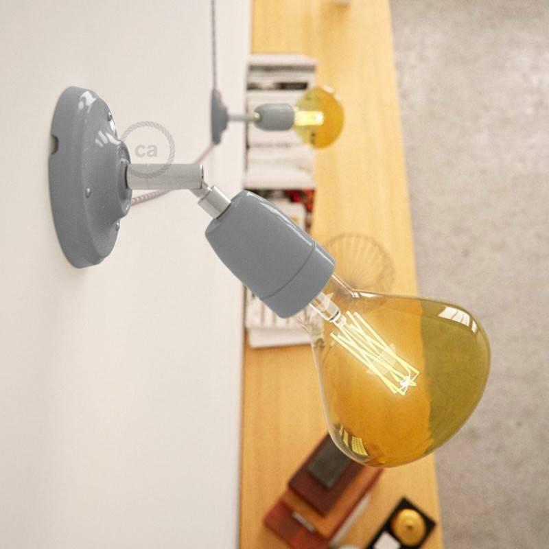 Fermaluce 90° Color, verstelbare porseleinen wand- of plafondlamp