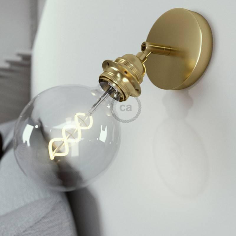 Fermaluce Métal 90°, avec support de lampe fileté E27, source de lumière murale ou de plafond réglable
