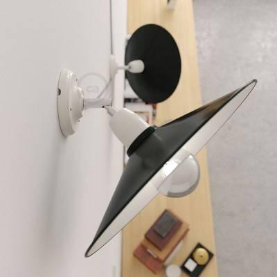 Fermaluce 90° met Swing-lampenkap, verstelbare porseleinen wand- of plafondlamp