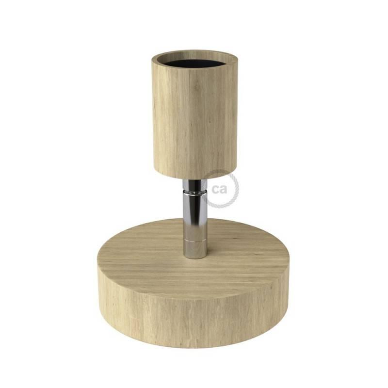 Fermaluce Wood 90°, la lumière rasante en bois naturel pour votre mur ou votre plafond