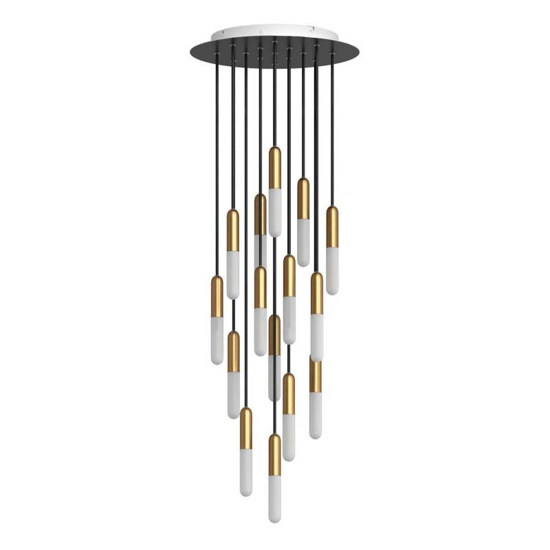 Made in Italy suspension with 15 pendants complete with bulbs, P-Light, and 400 mm Rose-One ceiling rose