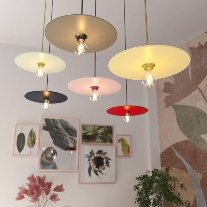 UFO COLOR, lampenkap van geverfd hout