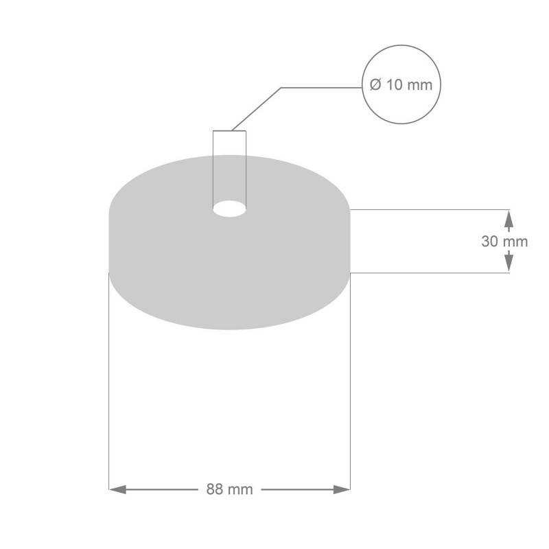 Kit Mini rosace cylindrique en bois avec 4 trous latéraux (boîte de dérivation)