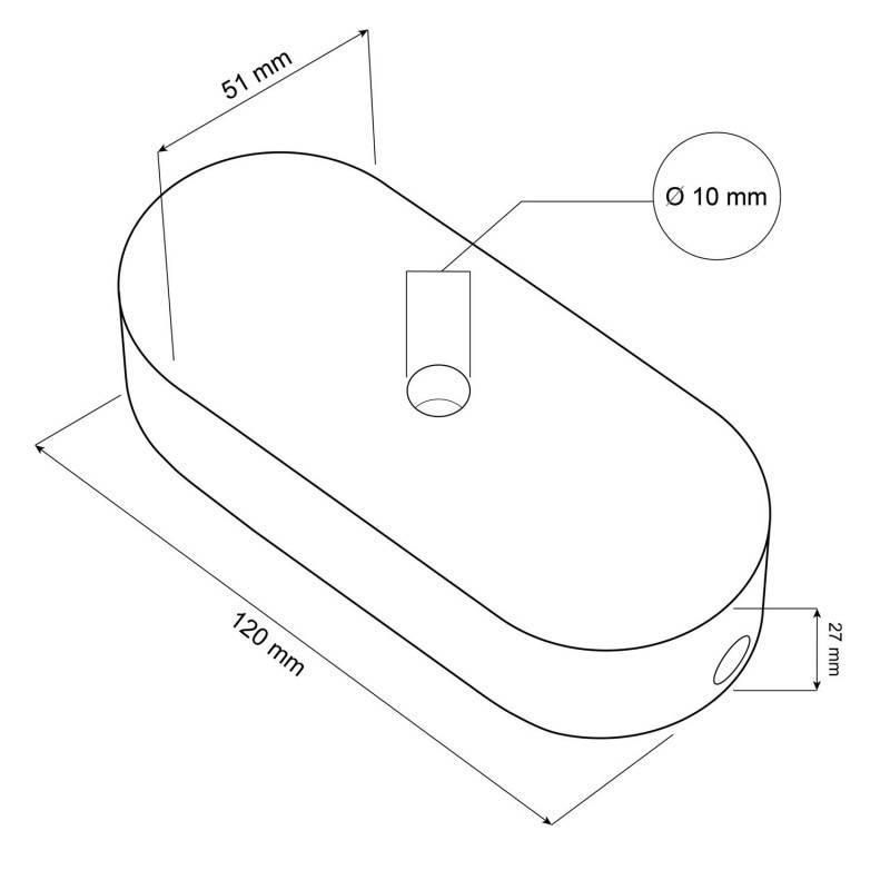 Ovales Lampenbaldachin-Kit aus Holz