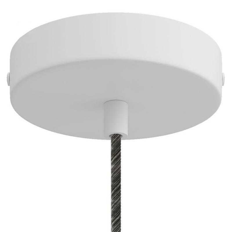 Suspension fabriquée en Italie avec cable textile et finition en métal avec douille S14d Syntax®