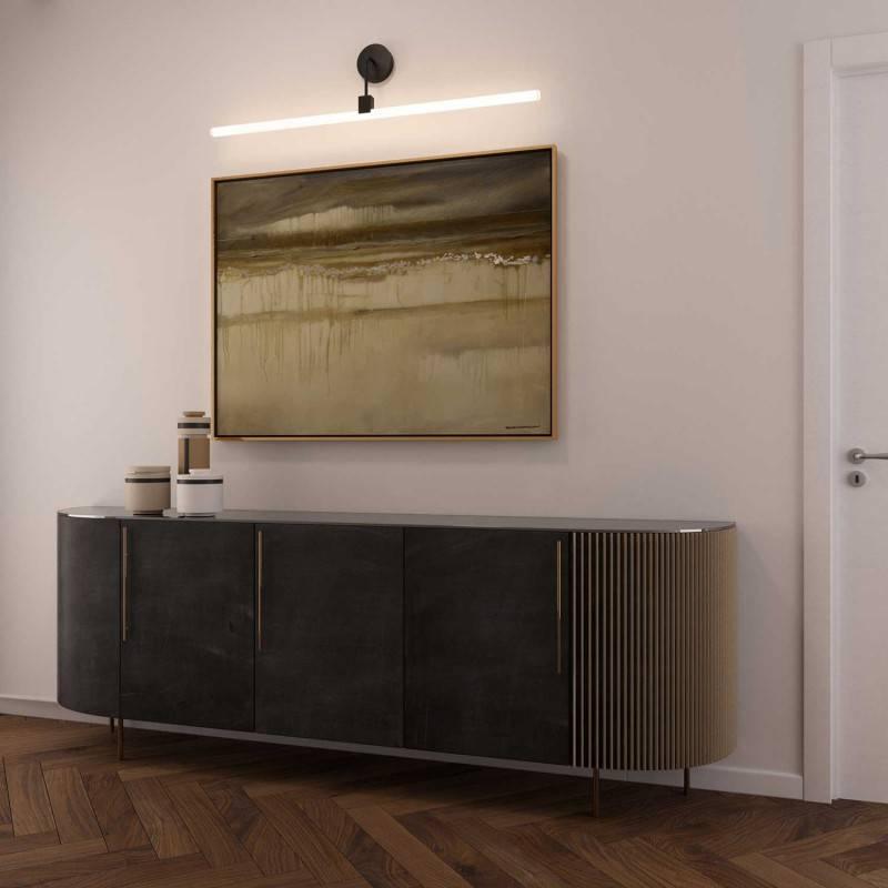 Applique murale design avec douille Syntax S14d et tuyau d'extension courbe noir métallique