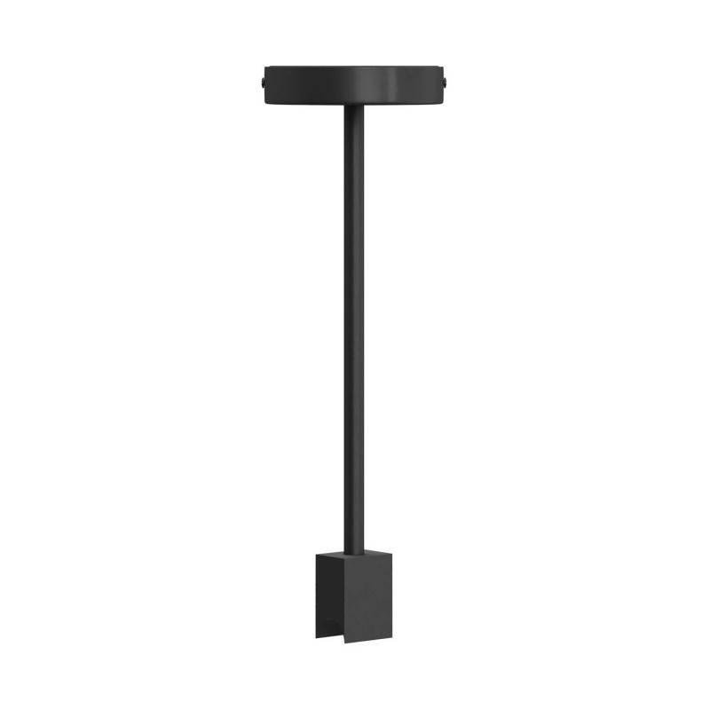Plafonnier design avec douille Syntax S14d et tuyau d'extension noir métallique de 30 cm