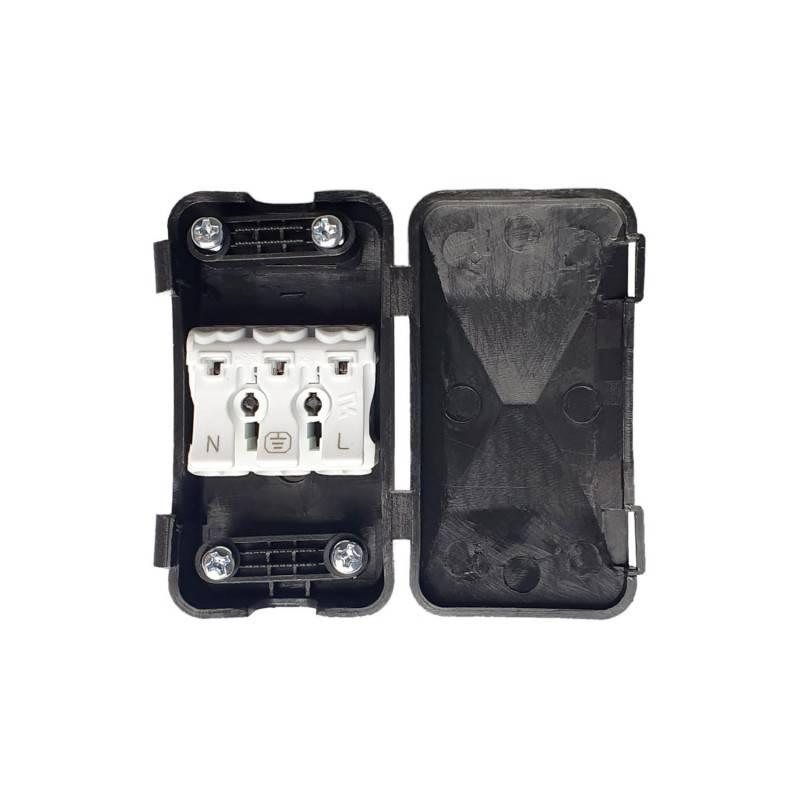 Kit de raccordement avec boîte de protection pour câbles et double serre-câble