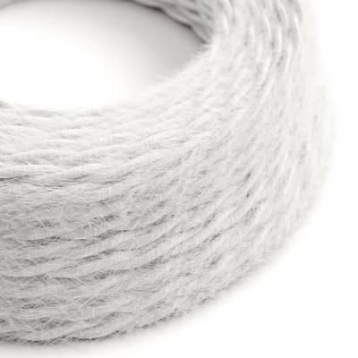 Câble électrique Torsadé Marlene recouvert de tissu aspect Fourrure Blanc Uni TP01