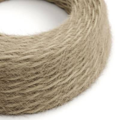 Câble électrique Torsadé Marlene recouvert de tissu aspect Fourrure Moutarde Uni TP13