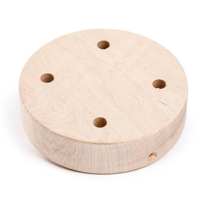 Kit rosace cylindrique en bois à 4 trous