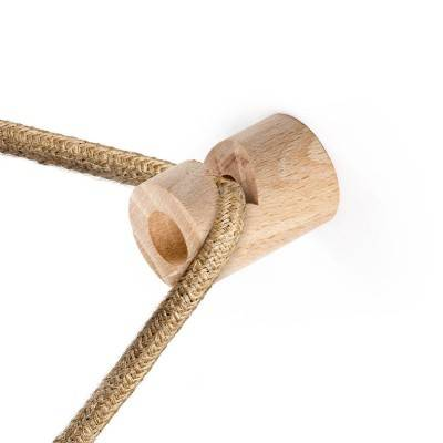 """Kit de décentralisation, crochet en bois en """"V"""" au mur ou au plafond pour câble électrique textile"""