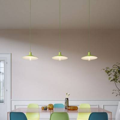 Hanglamp Made in Italy compleet met strijkijzerkabel, Swing Pastel lampenkap, met metalen afwerkingen