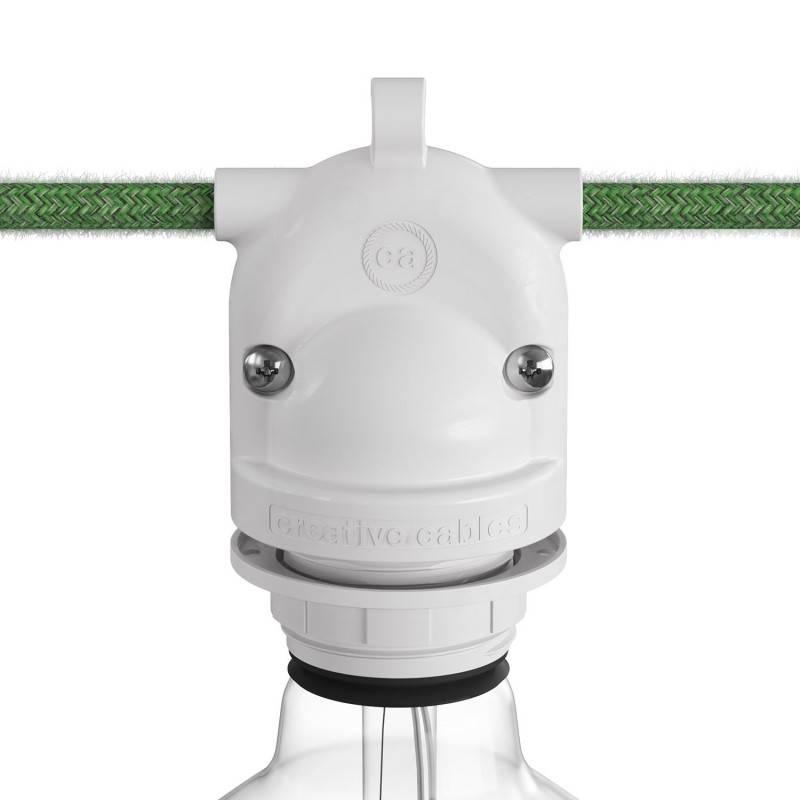 Eiva-2, 2-weg fitting voor buitengebruik IP65, E27 aansluiting