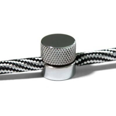 Sarè - Muurbevestiging, metalen kabelklem voor textielkabel
