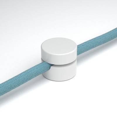 Fixation murale passe-câble universel pour câble textile