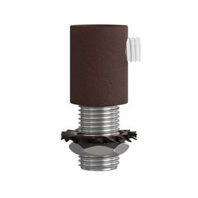 Cilindrische metalen kabelklem compleet met pendelbuis, moer en ring