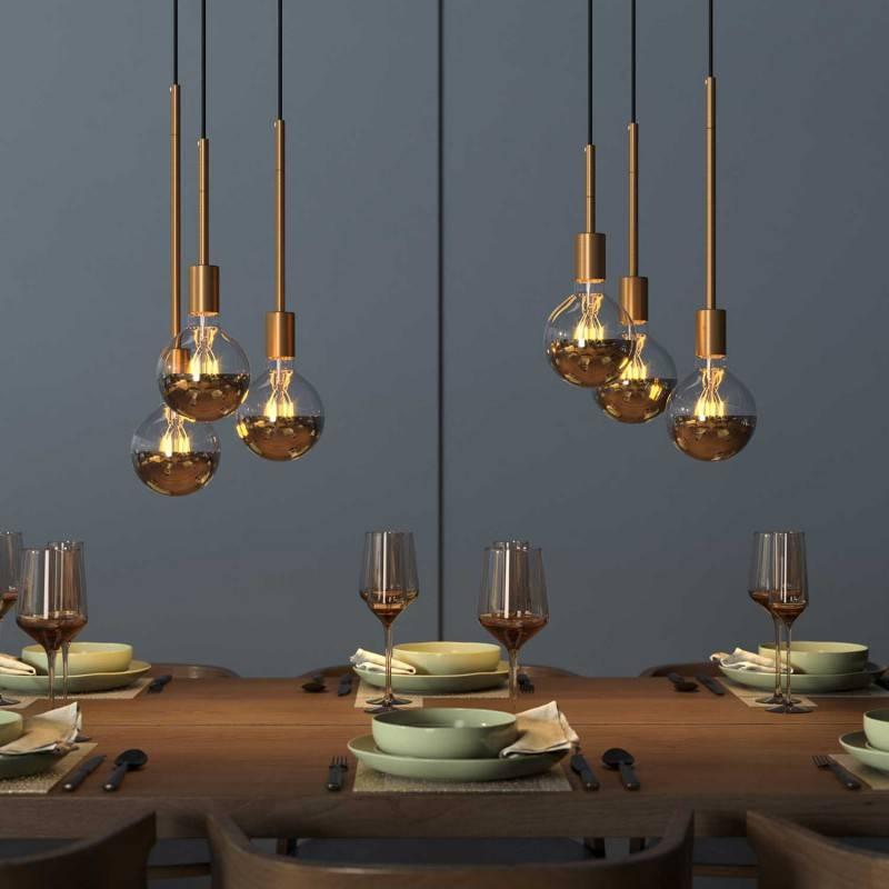Tube d'extension en métal pour lampes à suspension ou lampes de table