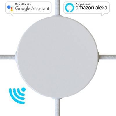 Smart metalen cilindrische rozetkit met vier zijgaten (verdeeldoos) - compatibel met Voice Assistants