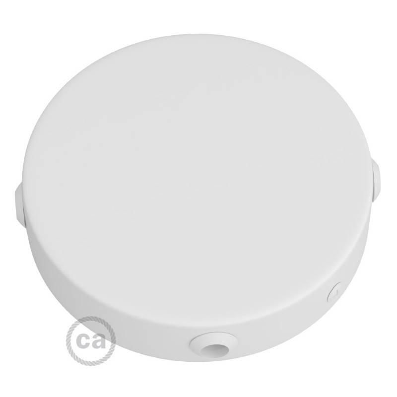Kit rosace cylindrique en métal à 4 trous latéraux (boîte de dérivation) Smart - compatible avec les assistants vocaux