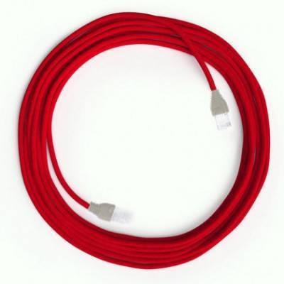 LAN - Ethernet textielkabel RM09 rood - Cat 5e RJ45