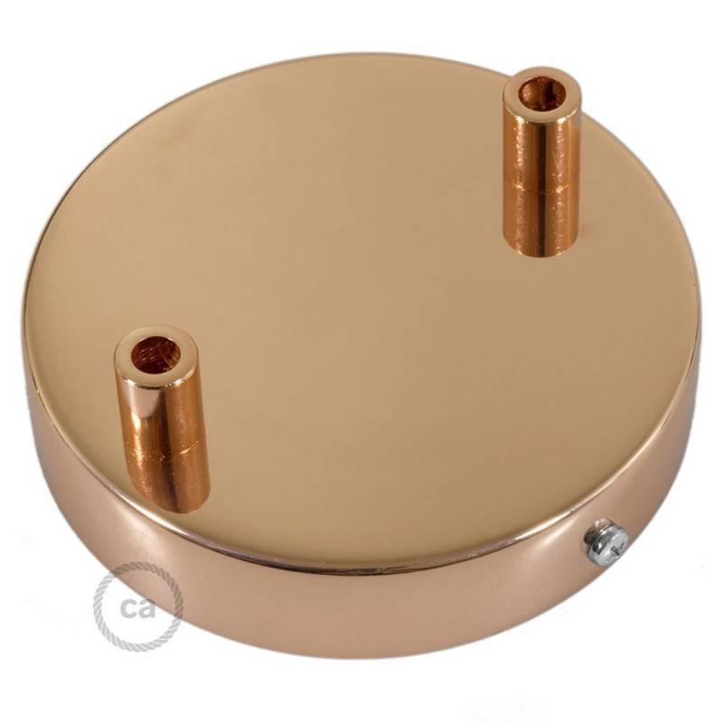 Strak design 2-gaats 120 mm. cilindrische metalen plafondkap