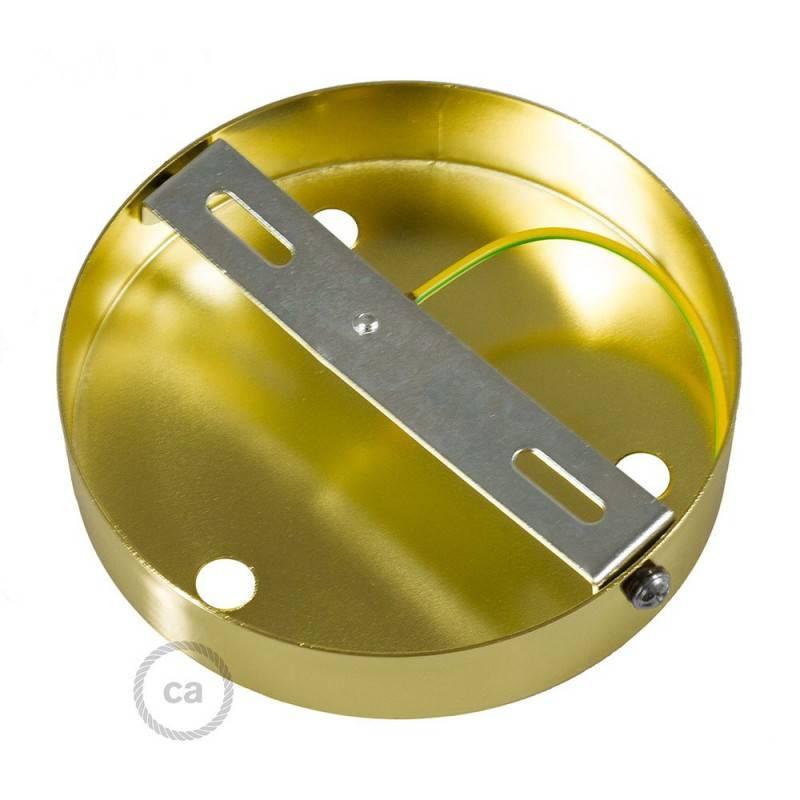 Strak design 3-gaats 120 mm. cilindrische metalen plafondkap