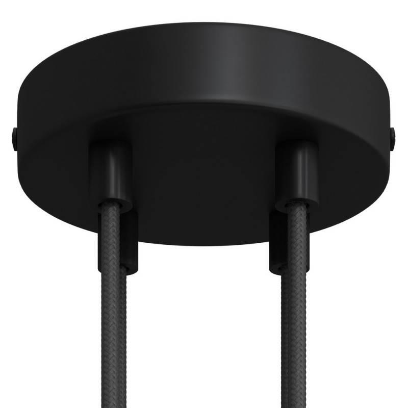 Strak design 4-gaats 120 mm. cilindrische metalen plafondkap