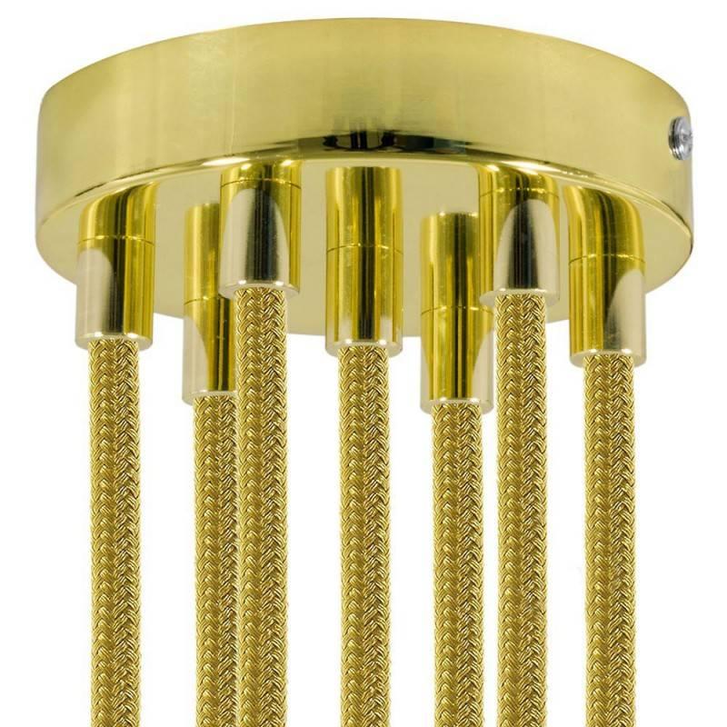 Strak design 7-gaats 120 mm. cilindrische metalen plafondkap