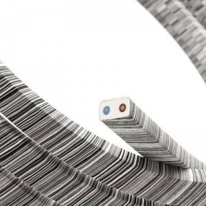Electric cable for String Lights Vertigo, covered by Black Mélange Cotton fabric ECC37