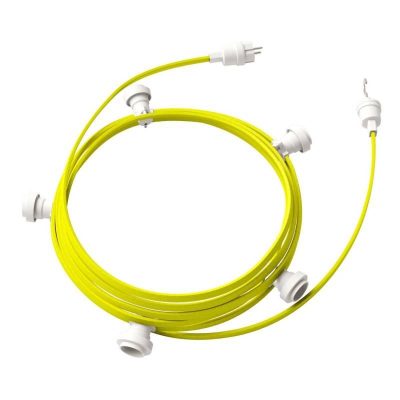 Lumet - 7,5 meter lichtsnoer met 5 witte fittingen, haak en stekker