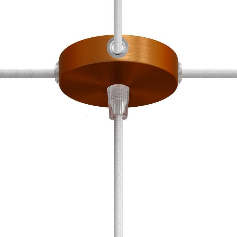 Kit Mini rosace cylindrique en métal à 1 trou central et 4 trous latéraux
