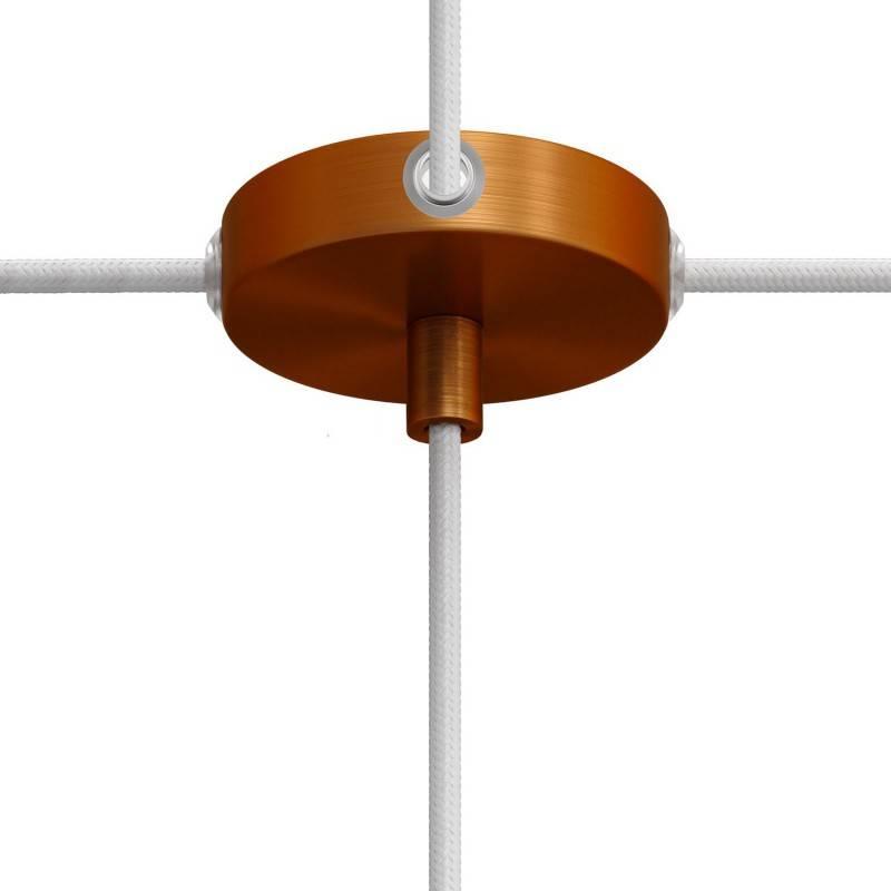 Kit Mini-cilindrische metalen rozet met 1 middengat en 4 zijgaten