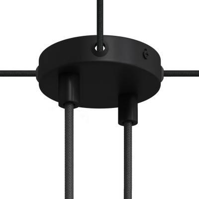 Kit Mini-cilindrische metalen rozet met 2 middengaten en 4 zijgaten