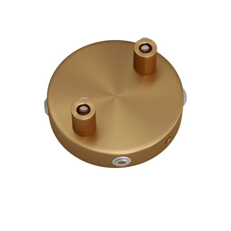 Kit Mini rosace cylindrique en métal à 2 trous centraux et 4 trous latéraux