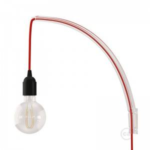 Archet(To), transparante wandlamp arm voor hanglampen