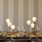 Alzaluce - lampe de table en métal avec fiche à deux pôles, câble textile et interrupteur