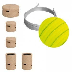 Filé Wiggle kit - met 3m. prikkabel en 5 houten onderdelen.