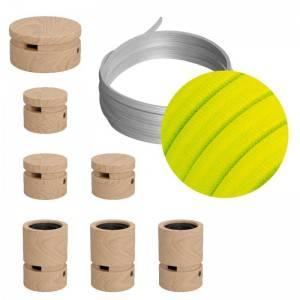 Filé lineair kit - met 5m. prikkabel en 7 houten onderdelen.