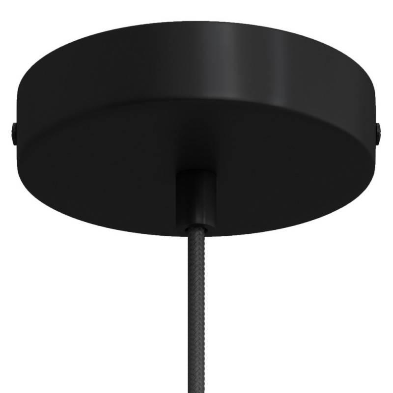 Strak design 1-gaats 120 mm. cilindrische metalen plafondkap