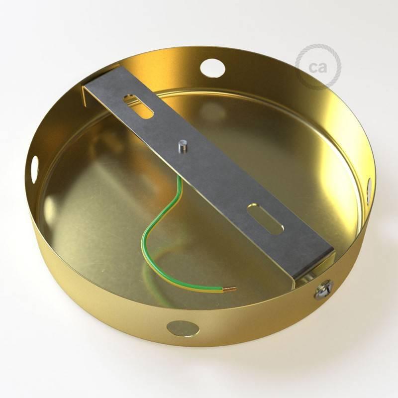 Kit rosace cylindrique en métal avec 4 trous latéraux (boîte de jonction)