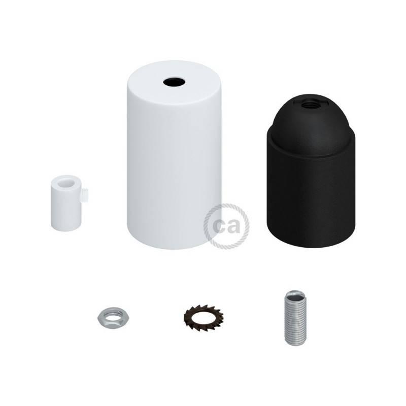 Cilindrische metalen E27 fittinghouder kit