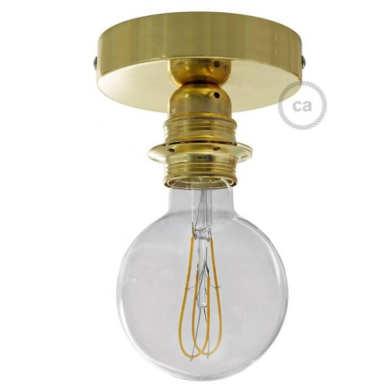 Fermaluce Metal met E27 schroefdraadfitting, metalen lamp