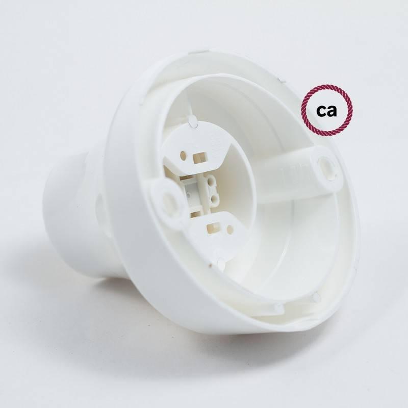 Porte-lampe 45° E27 mural ou de plafond en thermoplastique